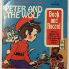 Peter And The Wolf Book and Record 1971 Peter Pan 45 RPM