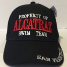 Property of Alcatraz Swim Team San Francisco Black Hat Cap Brand New Lanza