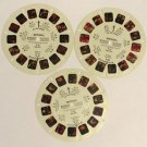 Meteor Viewmaster Reel Set of 3 A B and C