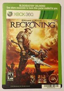 Xbox 360 Kingdoms of Amalur Reckoning Blockbuster Artwork Display Card