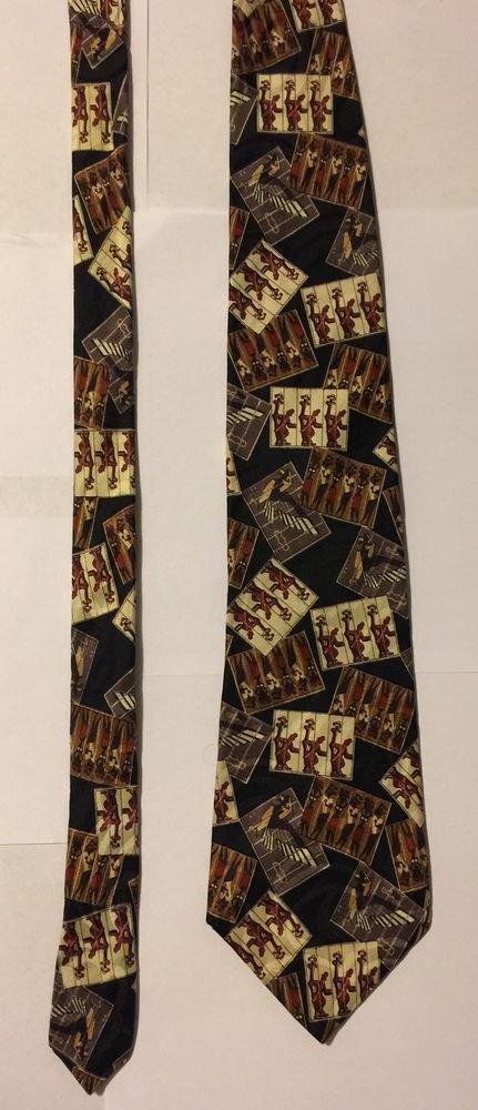 Chaps Ralph Lauren Silk Necktie Music People Design