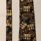 Chaps Ralph Lauren Silk Necktie Music People Design