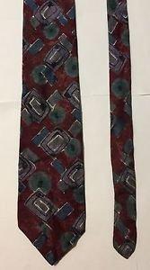 Halston III Multicolored Silk Necktie Tie