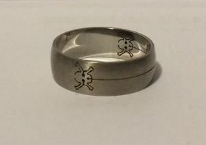 Laser Cut Skull Ring Silver Color Size 13