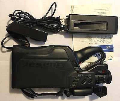Quasar VM705 VHS High Quality x8 CCD Auto Focus High Speed Shutter Camcorder