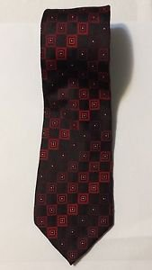Sean John Red and Black Silk Necktie Tie