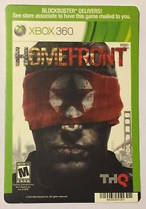 Xbox 360 Homefront Blockbuster Artwork Display Card