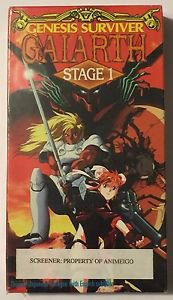 Genesis Surviver Gaiarth Stage 1 (VHS, 1993, Subtitled) Anime Screener Sealed