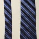 Stafford Blue Striped Tailored Culture Silk Necktie Tie