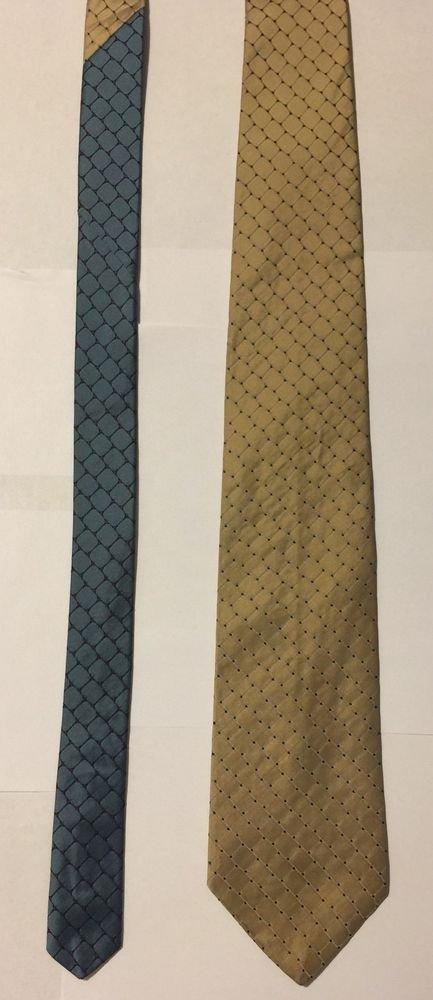 Tommy Hilfiger Multi-Colored Silk Diamond Print Necktie Tie
