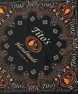 Tito's Handmade Vodka Bandana Black Orange and White