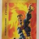 Marvel Overpower Cyclops Fearless Leader Trading Card