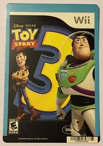 Nintendo Wii Toy Story 3 Blockbuster Artwork Display Card