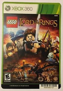 Xbox 360 Lego The Lord of The Rings Blockbuster Artwork Display Card