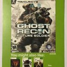 Xbox 360 Ghost Recon Future Soldier Blockbuster Artwork Display Card