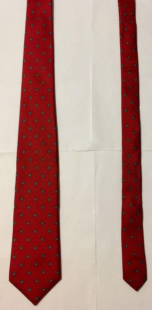 Bert Pulitzer Red With Diamond Print Silk Necktie Tie
