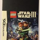 Nintendo DS Lego Star Wars III Blockbuster Artwork Display Card