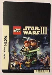 Nintendo DS Lego Star Wars III Blockbuster Artwork Display Card