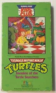 Teenage Mutant Ninja Turtles Invasion of the Turtle Snatchers VHS Burger King