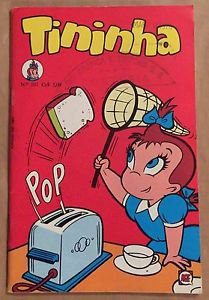 Tininha #101 Brazilian Little Audrey Foreign Edition Comic Catching Toast Cover