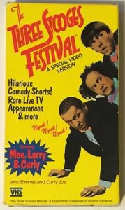 The Three Stooges Festival A Special Video Version VHS Moe Curly Larry Shemp Joe