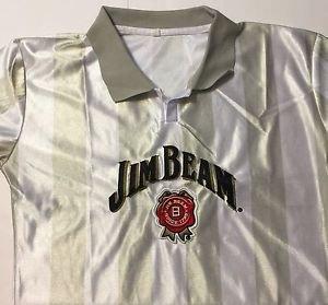Jim Beam Jersey Striped Shirt Size Large Brand New