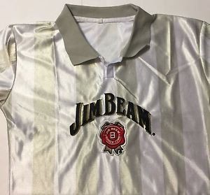 Jim Beam Jersey Striped Shirt Size Medium Brand New