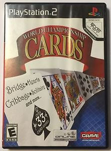 World Championship Cards (Sony PlayStation 2, 2008) Complete
