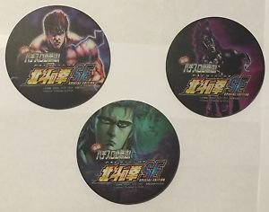 Sega Coasters Set of 3 Pachislot Special Edition Fist of The North Star Sammy
