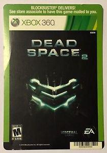 Xbox 360 Dead Space 2 Blockbuster Artwork Display Card