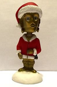 Star Wars Santa C3PO Funko Bobble Head Christmas 2009 5 Inches C-3PO