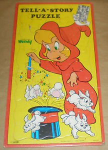 The Good Little Witch Wendy Tell-A-Story Puzzle By Warren 1978 Harvey Cartoons
