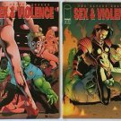 Savage Dragon Sex & Violence Complete 2 Issue Mini-Series 1 2 (Image Comics)