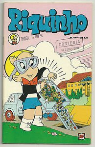 Riquinho #126 November 1977 Brazilian Richie Rich Edition Dumping Jewels Cover