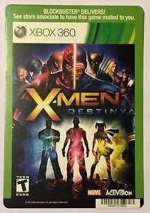 Xbox 360 X-Men Destiny Blockbuster Artwork Display Card