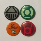 Green Lantern Blackest Night Pinback Button Set Green Lantern Black Lantern Red