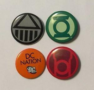 Green Lantern Blackest Night Pinback Button Set Green Lantern Black Lantern Red