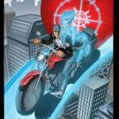Ghost Assassin Love on a Motorcycle Valentine's Day Poster Darkslinger Comics