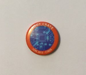 Loot Crate June 2015 Cyber Pinback Button