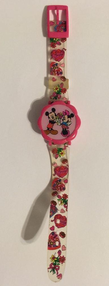 Mickey And Minnnie Mouse Flip Top Digital Wrist Watch Disney