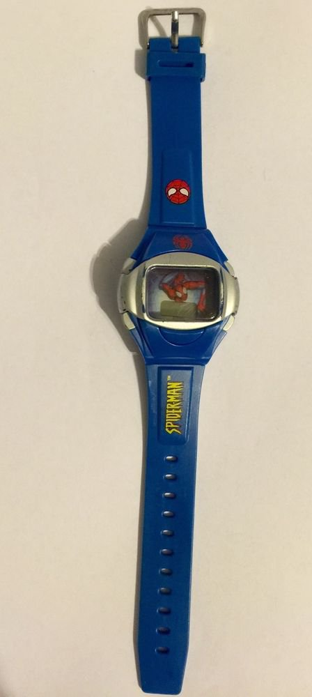 Spider-man Blue Digital Wrist Watch Marvel Comics
