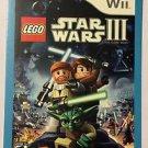Nintendo Wii Lego Star Wars III Clone Wars Blockbuster Artwork Display Card