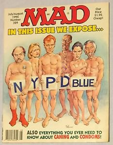 MAD #329 (Jul-Aug 1994, EC) NYPD Blue Parody Cover