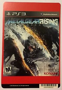 Playstation 3 Metal Gear Rising Revengeance Blockbuster Artwork Display Card
