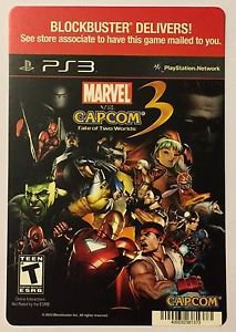 Playstation 3 Marvel VS Capcom 3 Blockbuster Artwork Display Card