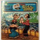 Popeye The Sailor Man Oyle On Troubled Waters Book and Record Peter Pan 1976