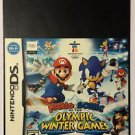Nintendo DS Mario & Sonic Olympic Winter Games Blockbuster Artwork Display Card