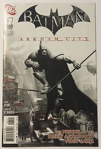 Batman: Arkham City #1 (Early July 2011, DC) Variant Cover FN Condition