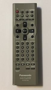 Panasonic EUR7617020 DVD Player Remote Control Controller