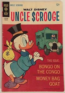 Uncle Scrooge #73 (February 1968, Gold Key) GD Condition Walt Disney
